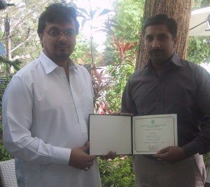 Dr. Sabeel With Federal Minister Shehzada Jamal