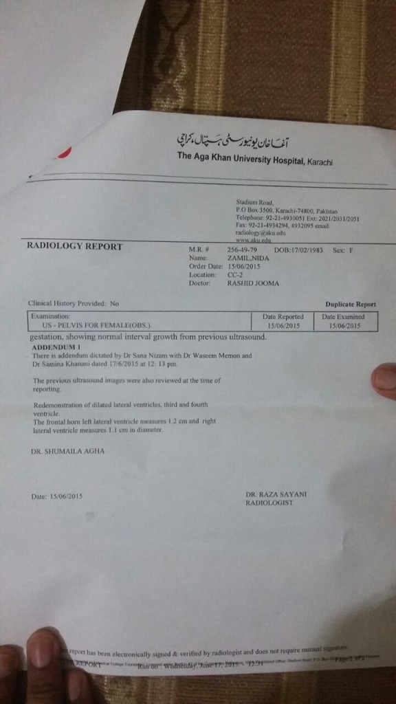 Hydrocephalus Medical Report 2