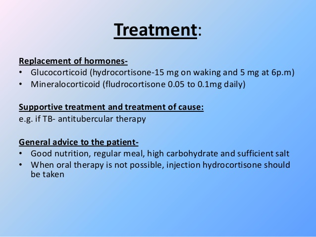 Allopathic Treatment of Addison Disease